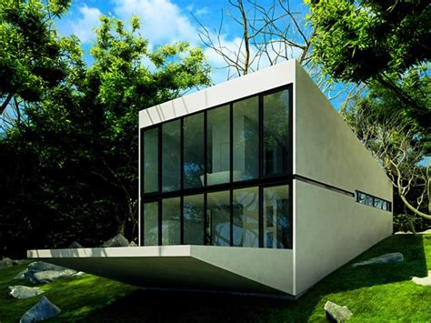 small modern house   young couple     architects