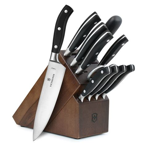 professional kitchen knives set victorinox forged professional knife block set 12 piece