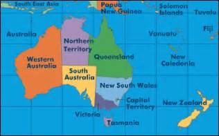 Kart fra mapquest for hele oceania detaljert og med zoom funksjon