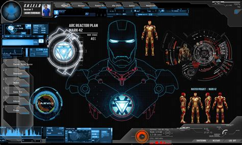 jarvis theme for windows 7 rainmeter iron man jarvis wallpapers wallpaper cave