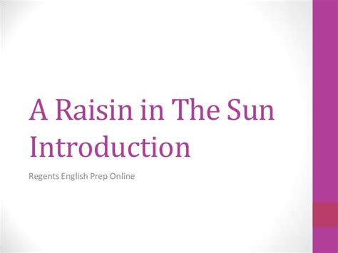 Deferred Sentence On Background Check A Raisin In The Sun Introduction