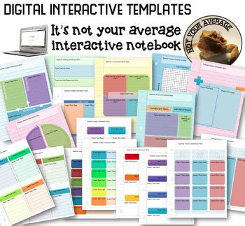 Not Your Average Classroom Teaching Resources Teachers Pay Teachers Digital Interactive Notebook Templates