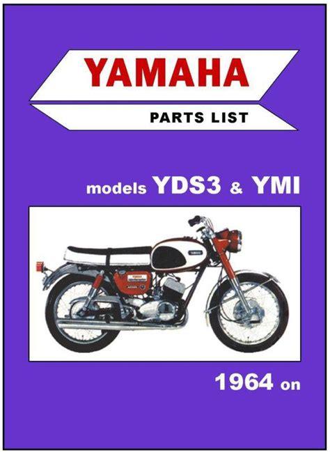 buy yamaha parts manual yds3 ym1 1964 1965 1966