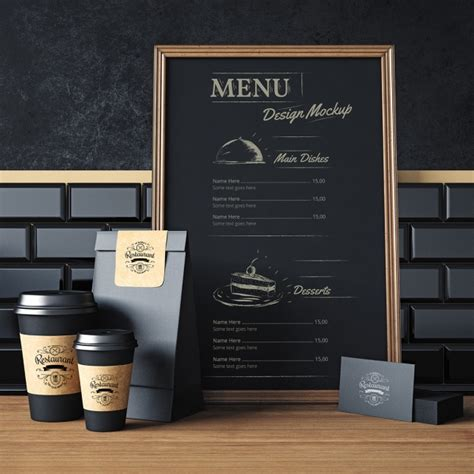 menu design mockup restaurant elements mock up design psd file free download
