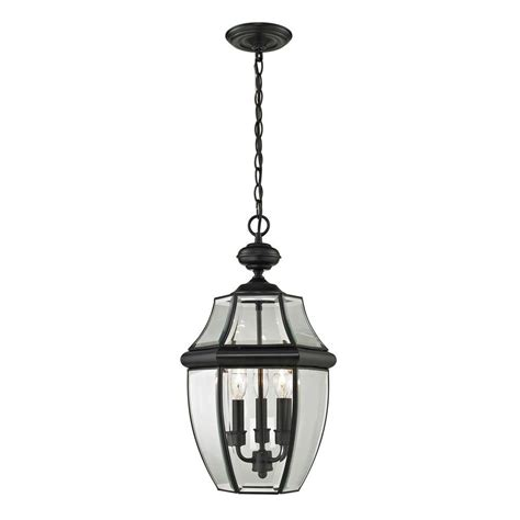 Outdoor Pendant Lighting Home Depot Feiss Wembley Park Collection 3 Light Textured Black Outdoor Hanging Lantern Pendant Ol9511txb