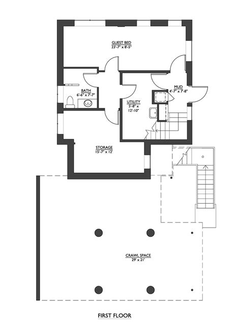 house plains modern style house plan 2 beds 2 50 baths 1953 sq ft