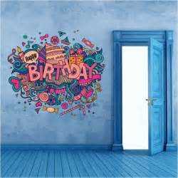 Wall Murals And Decals happy birthday wallpapers promotion shop for promotional