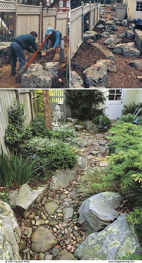 how to build a dry creek bed diy dry creek beds the garden glove