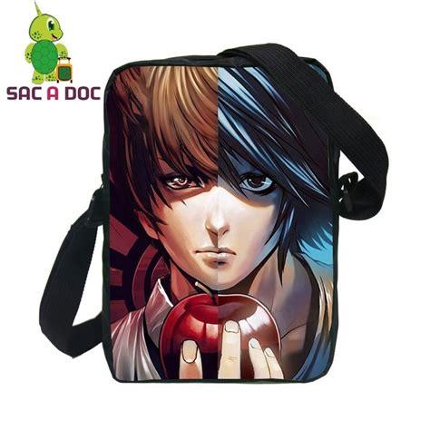 Kameja Anime L One L Dheat Note 1 anime note l light split messenger bag