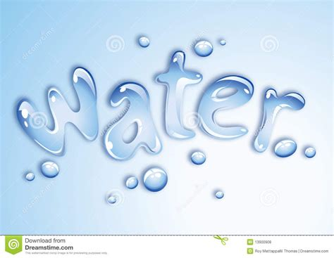 water design stock vector image of clarity nature drops