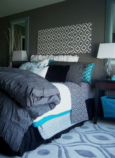 turquoise and grey bedroom gray yellow turquoise grey and