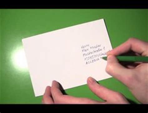 adresse schreiben wie es richtig macht