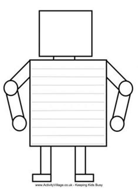 1000 Images About Robots On Pinterest Robot Parts Handwriting Alphabet And Colouring Pages Robot Craft Template