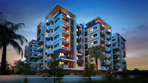 The Appartments by Apartment Elevation Designing 3d Architectural Rendering