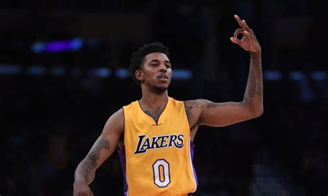 nick young nick young steals pass from his own teammate to hit game