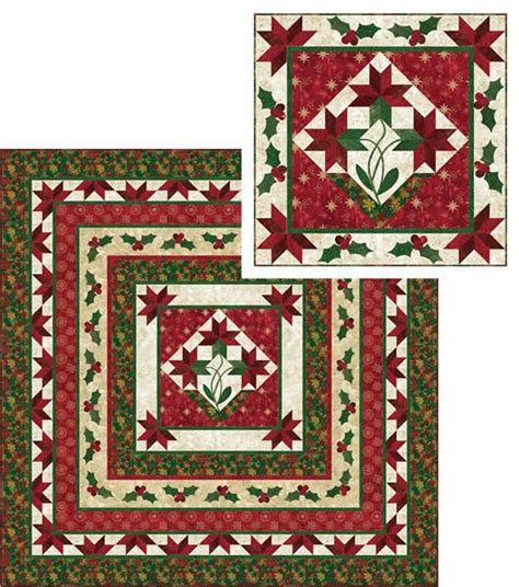 Medallion Quilts Free Patterns by Poinsettia Medallion Quilt Pattern Pc 144 Advanced
