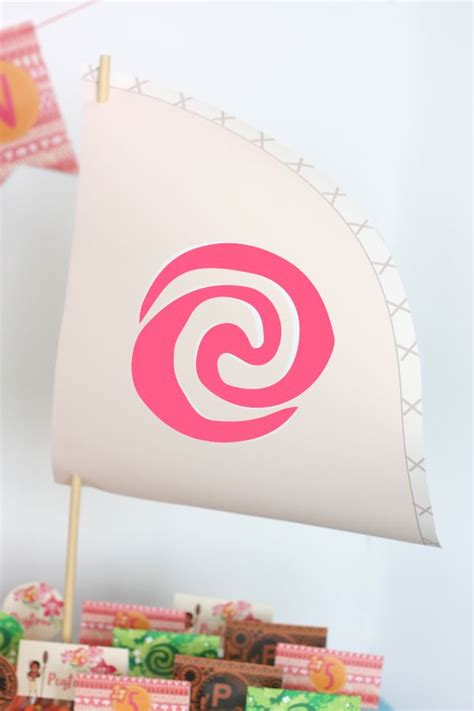 moana boat decoration diy moana boat tutorial birthday pinterest moana