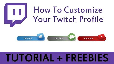how to customize your twitch profile