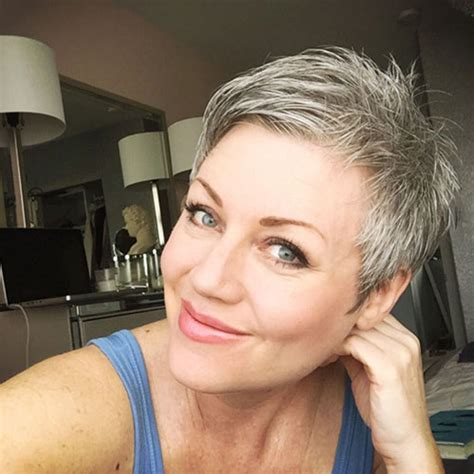 letting hair go gray in your forties short grey haircuts over 40s pinterest short grey