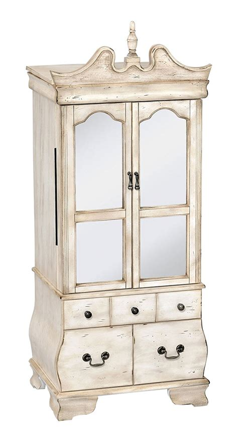 white standing jewelry armoire 25 beautiful antique jewelry armoires zen merchandiser