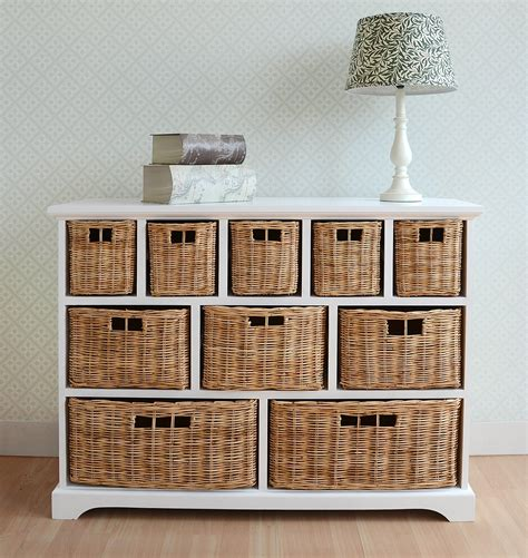 furniture organizer online tetbury wide storage chest with wicker baskets bedroom