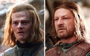 Galerry This side by side of young Ned Stark and young Sean Bean will amaze