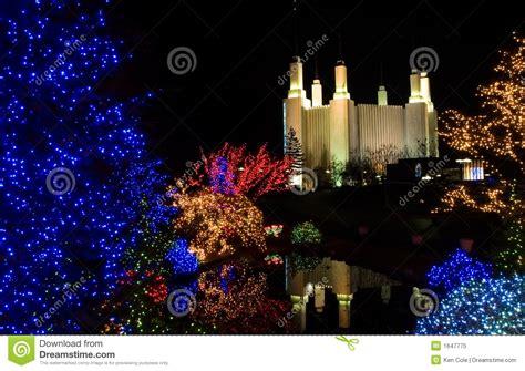 mormon temple dc christmas lights christmas at mormon temple stock image image of