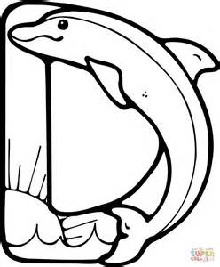 Letter D Is For Dolphin Coloring Page Free Printable D Coloring Pages