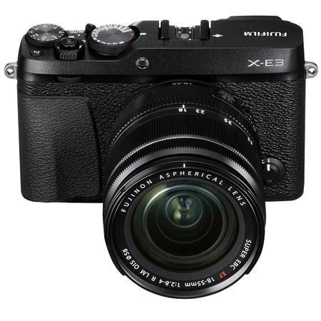 Fujifilm X E3 Black Kamera Mirrorless Kamera Fuji Limited fujifilm x e3 mirrorless w xf 18 55mm f 2 8 4 r lm ois zoom lens black