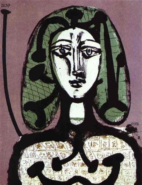 picasso paintings west pablo picasso with green hair 1949