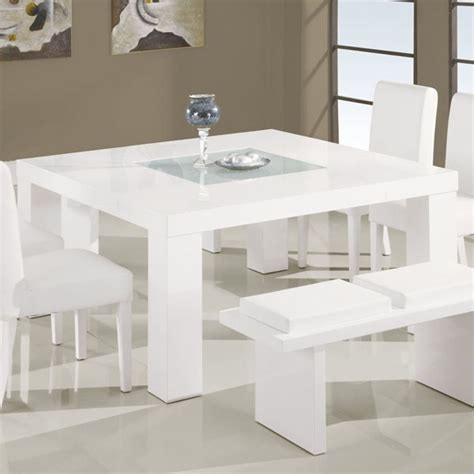 modern square dining table for 8 global furniture square dining table in white dg020dt