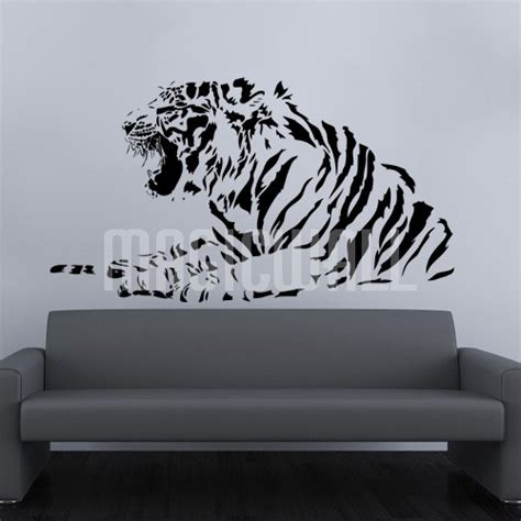 graphic wall stickers wall decals tiger profile side wall stickers
