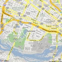 richmond map map of richmond virginia united states hotels