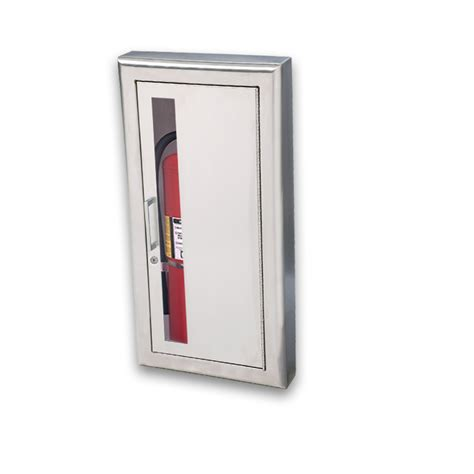 stainless steel extinguisher cabinets jl cosmopolitan stainless steel 8137w10 semi recessed 5 lbs extinguisher cabinet vertical