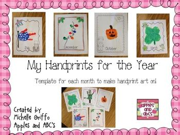 monthly crafts for monthly handprint template by griffo from