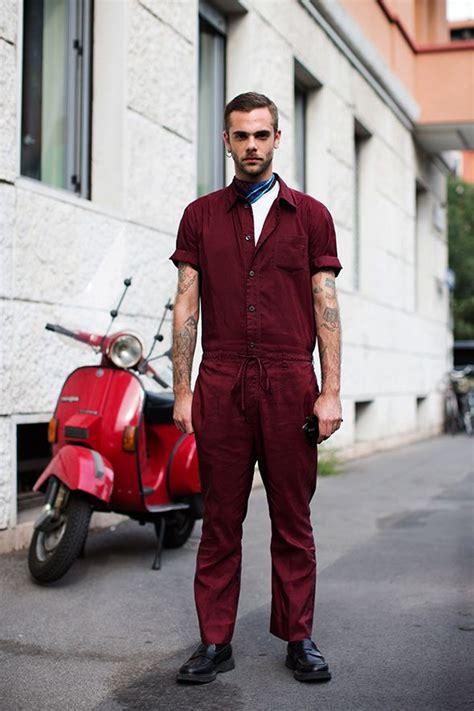 Overall Jumpsuit Maroon burgundy jumpsuit jumpsuit fogazzaro milan mens fashion s fashion mens jumpsuit
