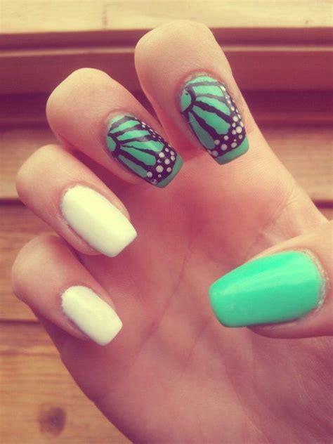 easy nail art green 35 butterfly nail art ideas butterfly nail art matte