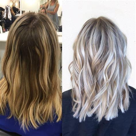silvery blonde highlights done by alexaa3 at habit salon in gilbert az ash blonde