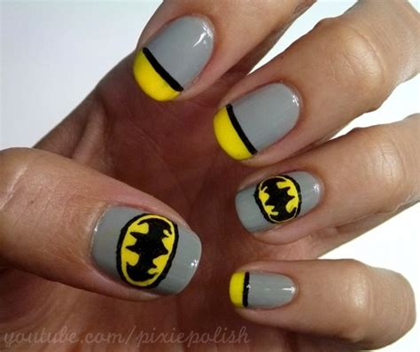nail art batman tutorial 15 great batman nail art designs for kids pretty designs