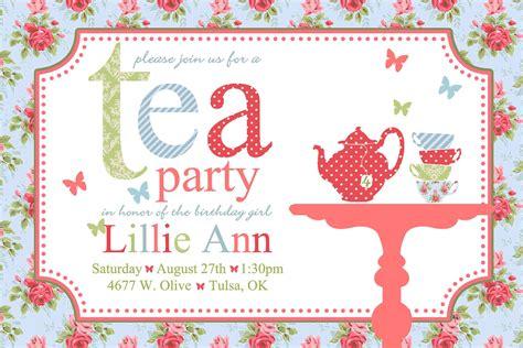 Free Afternoon Tea Invitation Template Tea Birthday Invitation Template