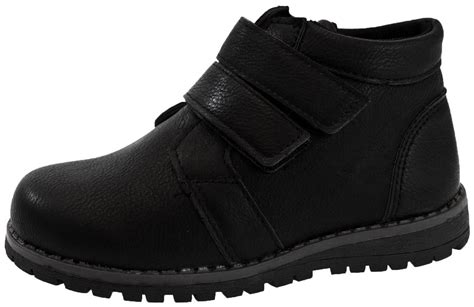 winter school shoes boys faux leather ankle boots warm winter casual school