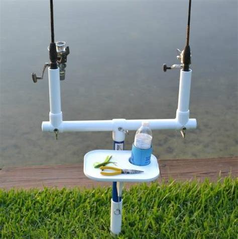 fishing rod table l augrod deluxe beach bank and surf fishing rod holder