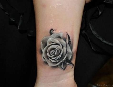 grey rose tattoos 15 delightful black tattoos on wrist