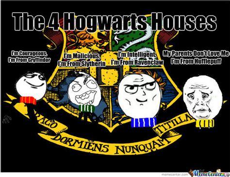Harry Potter House Meme - hogwarts 4 houses by mrgruntman meme center