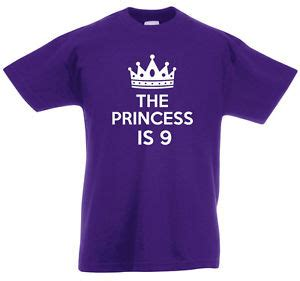 T Shirt Ideas 9 the princess is 9 9th birthday gifts t shirt for 9 year