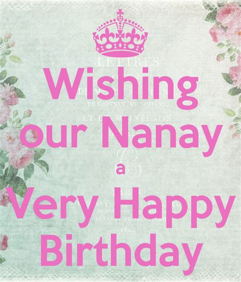 Birthday Quotes For Nanny Wishing Our Nanay A Very Happy Birthday Poster Junix