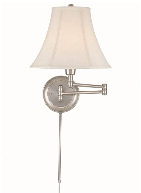 swing arm wall ls plug in lite source c7501 charleston swing arm wall sconce ls c7501