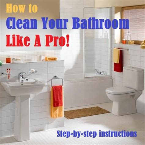 how to clean your bathroom like a pro one good thing by jillee