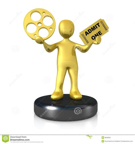 film cartoon oscar movie award stock illustration image of motion show