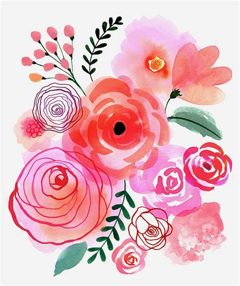 easy floral designs 25 best ideas about watercolor flowers on